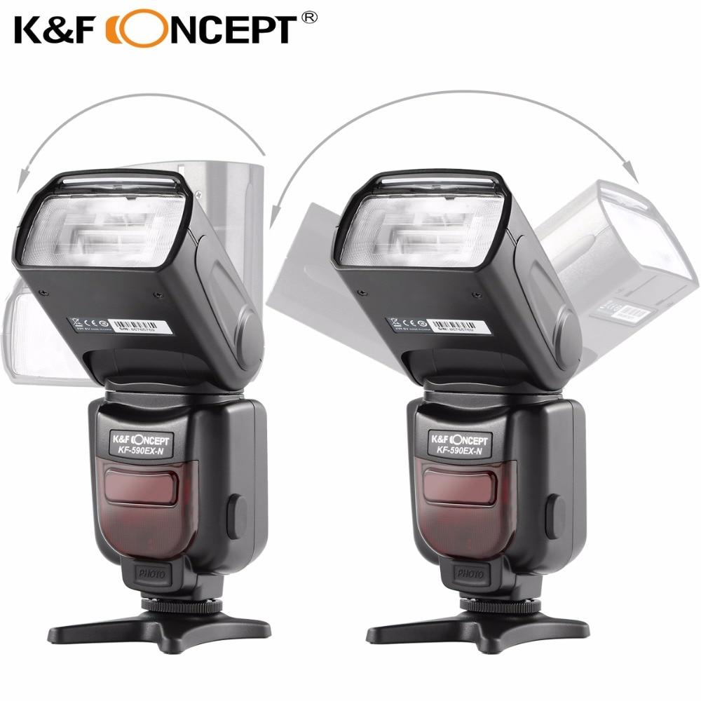 K & F CONCEPT KF590EX-N Φλας Speedlite i-TTL TTL GN56 Slave 2.9S - Κάμερα και φωτογραφία - Φωτογραφία 4