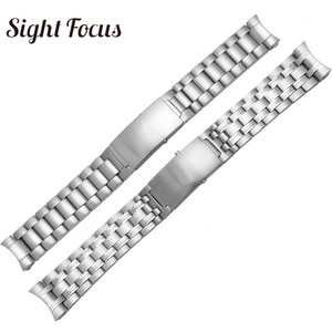 Image 2 - 20mm 22mm Stainless Steel Replacement Watch Band for Omega Seamaster 300 231 Watch Strap Metal Bracelet Folding Clasp Silver 007