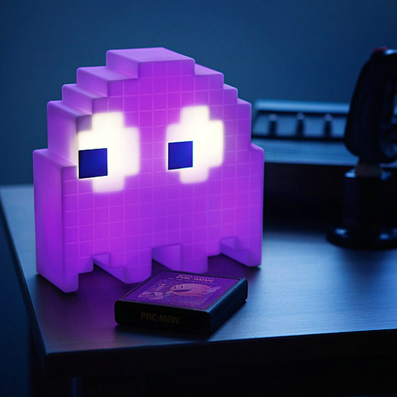 Image 3 - Color Change Cartoon luminarias dj Led glow USB Night Light 8 bit mood light Pixel pacman Child Baby Soft Lamp Bedroom Lighting-in Night Lights from Lights & Lighting