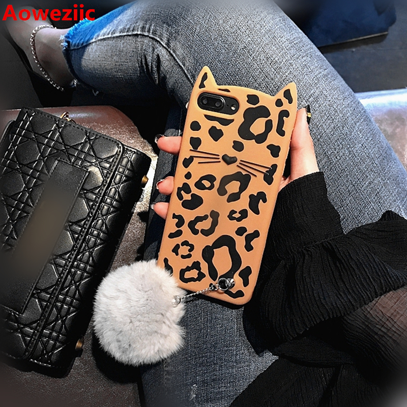 Aoweziic Womens brand new Korean net red For iphone7plus mobile phone shell 6S 8Plus personalized luxury hair ball X case