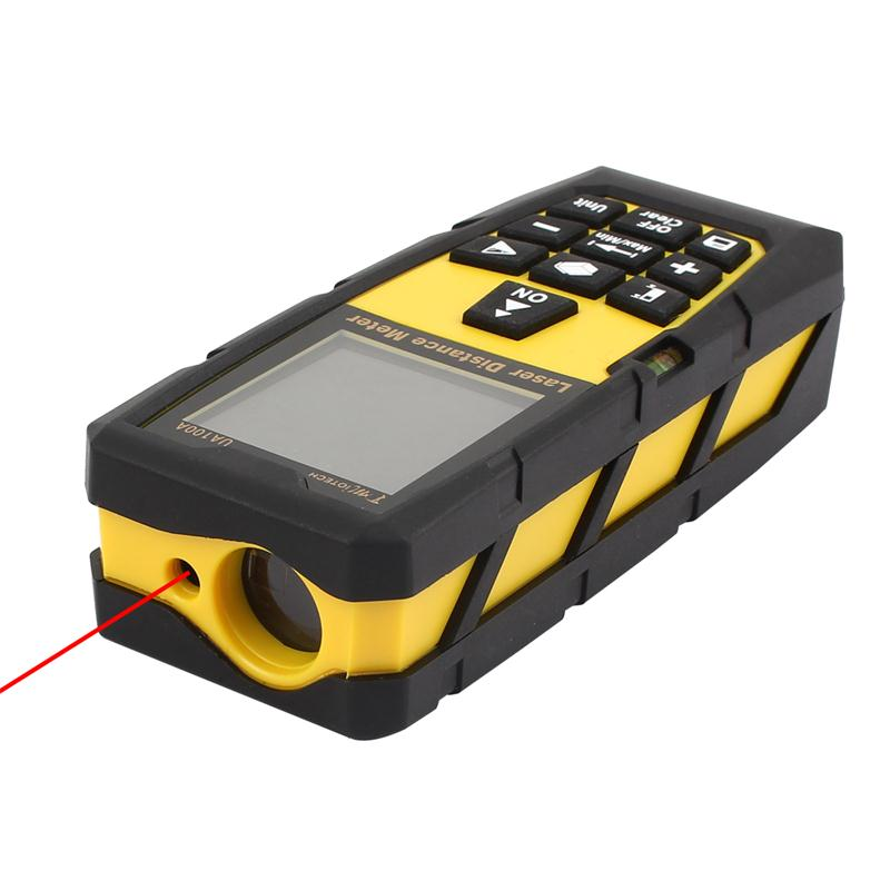 100M 328ft Digital Laser Distance Meter Rangefinder Measure Diastimeter Yellow Measurement Analysis Instruments цена