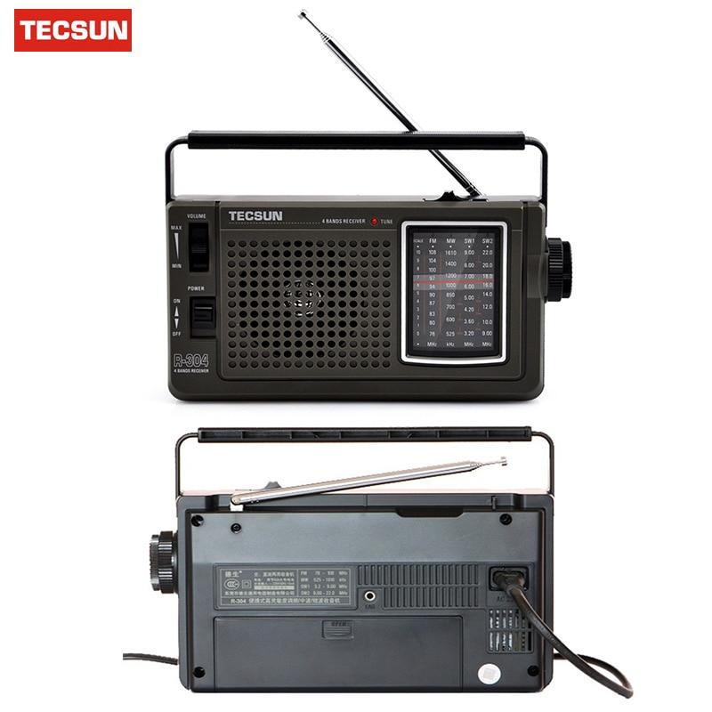 Original TECSUN R-304 R-304P High Sensitivity FM Radio MW/SW Radio Receiver Built-In Speaker Digital Receiver Portable Radio