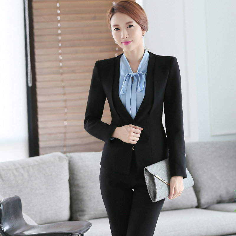 Gray-Two-Piece-Ladies-Formal-Skirt-Suit-Office-Uniform-Designs-Women-Business-Suits-for-work (3)