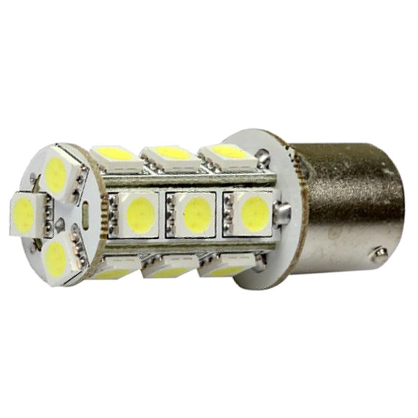 20PCS 1156 BA15S 18 LED SMD 6000K Xenon White RV Camper Trailer Interior LED Lamp