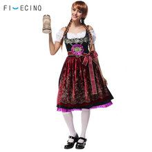 Europe Oktoberfest Traditional Costume Women Adult Dress Festival Beautiful Fancy Girls Carnival Beer Party Waiter Outfit Suit
