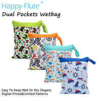 Happy Flute Dural Pockets Wetbag Diaper Bag Dural Zippers With Handle