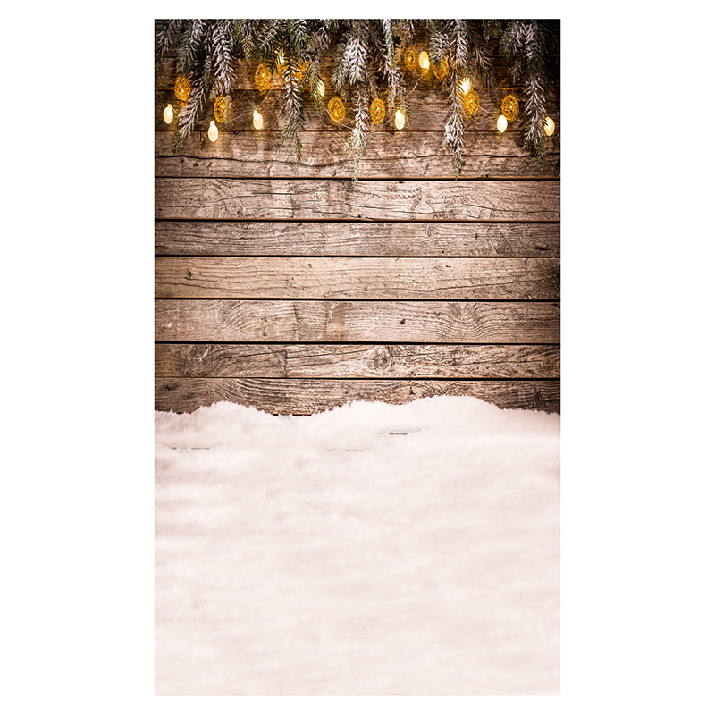 5X7FT 150X210CM Vinyl Christmas theme picture cloth photography background studio props Snow Wooden wall light string shengyongbao 300cm 200cm vinyl custom photography backdrops brick wall theme photo studio props photography background brw 12