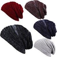 Femmes À La Mode Hiver Chaud Chapeau Hommes Crochet Tricot de Laine Beanie Caps Chunky Souple Surdimensionné Cable Knit Slouchy Beanie Pour Femmes