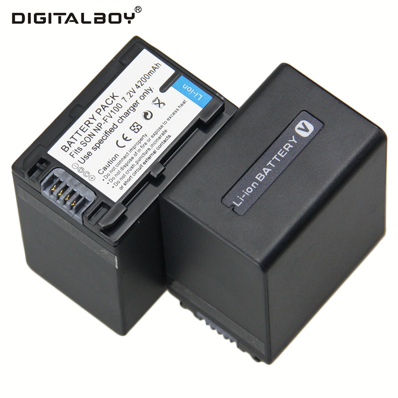 4200mah 2pcs Battery Np Fv100 Np Fv100 Npfv100 Rechargeable Camera