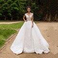 ON445 Кружева Русалка Свадебные Платья Backless Свадебные Платья 2016 Съемная Поезд Юбка Свадебное платье Богемный Китай Свадебные Платья