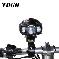 TDGO Universal Motorcycle Car Headlight Lamp Moto LED Spot Light Driving Fog Lamp USB Charger For Yamaha Kawasaki BMW Honda KTM