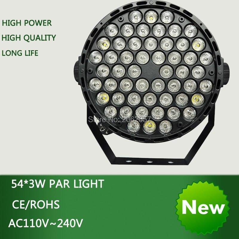 54*3 Вт LED PAR света диско диджей DMX512 сценический эффект освещения RGBW Пульт дистанционного управления номинальной свет профессии свет этапа