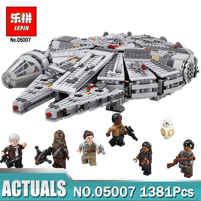 Hot Lepin 05007 Force Awakens Millennium Falcon Building Blocks Compatible Legoingly Star Set Wars 75105 Kids Lepin Bricks Toys