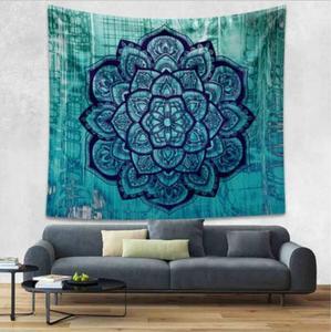 Image 2 - Lotus Mnadala Elefanten Wandteppich Hängen Dekor Indian Home Hippie Bohemian Wandteppich für Schlafsäle Polyester Stoff Wandkunst