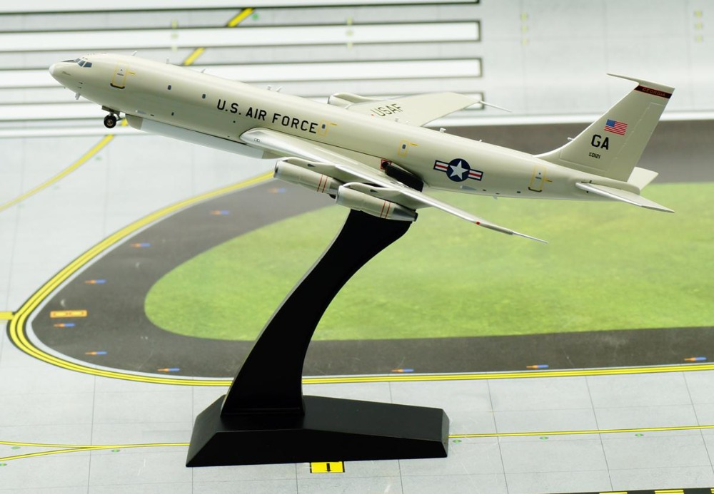 IF 200 1: 200 US Air Force E-8C Air reconnaissance aircraft model Boeing 707-300 Alloy aircraft model Favorites Model bburago 1 18 458 alloy supercar model favorites model