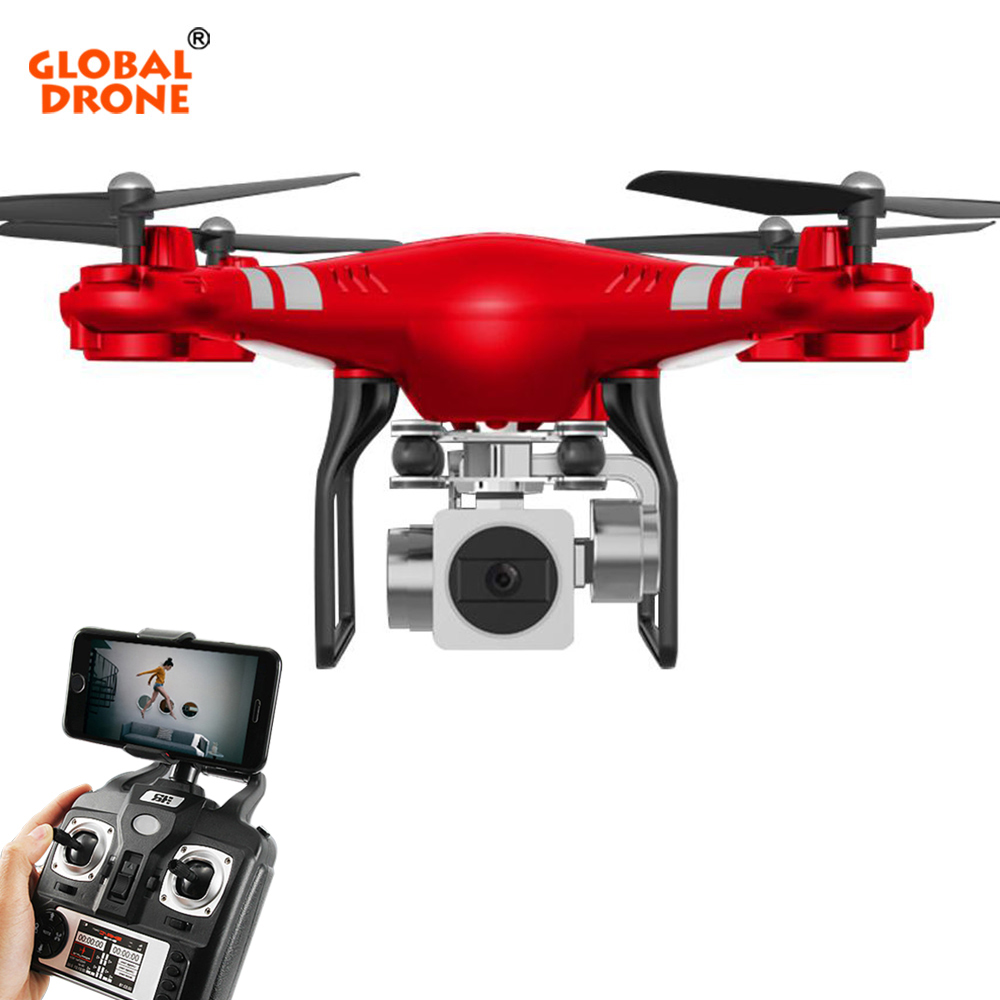 Global Drone RC Wifi FPV Dron Altitude Hold Drone with Camera HD 720P / 1080P Wide Angle 120 Degree Quadrocopter VS syma x5c syma official x8g dron with camera hd wide angle 2 4g 4ch 6 axis with 8mp 360 degree rotating rc drone rc gift quadrocopter