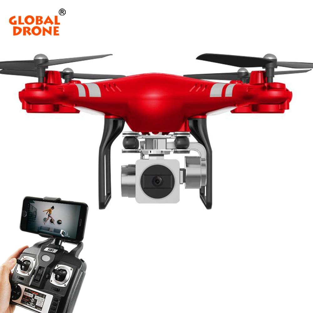 купить Global Drone RC Wifi FPV Dron Altitude Hold Drone with Camera HD 720P / 1080P Wide Angle 120 Degree Quadrocopter VS syma x5c по цене 2326.33 рублей