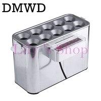 Dmwd التجاري طباخ البيض السجق هوت دوج صانع البيض عجة لفة سيد المرجل البيض الكهربائية كوب الإفطار 10 ثقوب eu