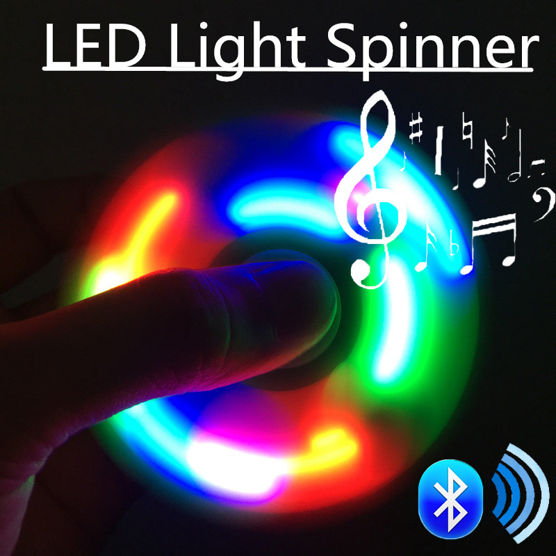 LED Light Fidget Spiner hand Gyro Toys EDC For Autism ADHD Anxiety Focus Stress Relief Finger Toy Gift Kids Adult Spinner Toys#N starry sky colored abs children toy edc three corner hand spinner for autism and adhd anxiety stress relief focus toys kids gift