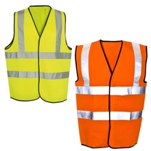 New Yellow Or Orange Hi Vis High Visibility Hi Viz Safety Vest High-Viz Safe reflective vest over shoulderNew цена