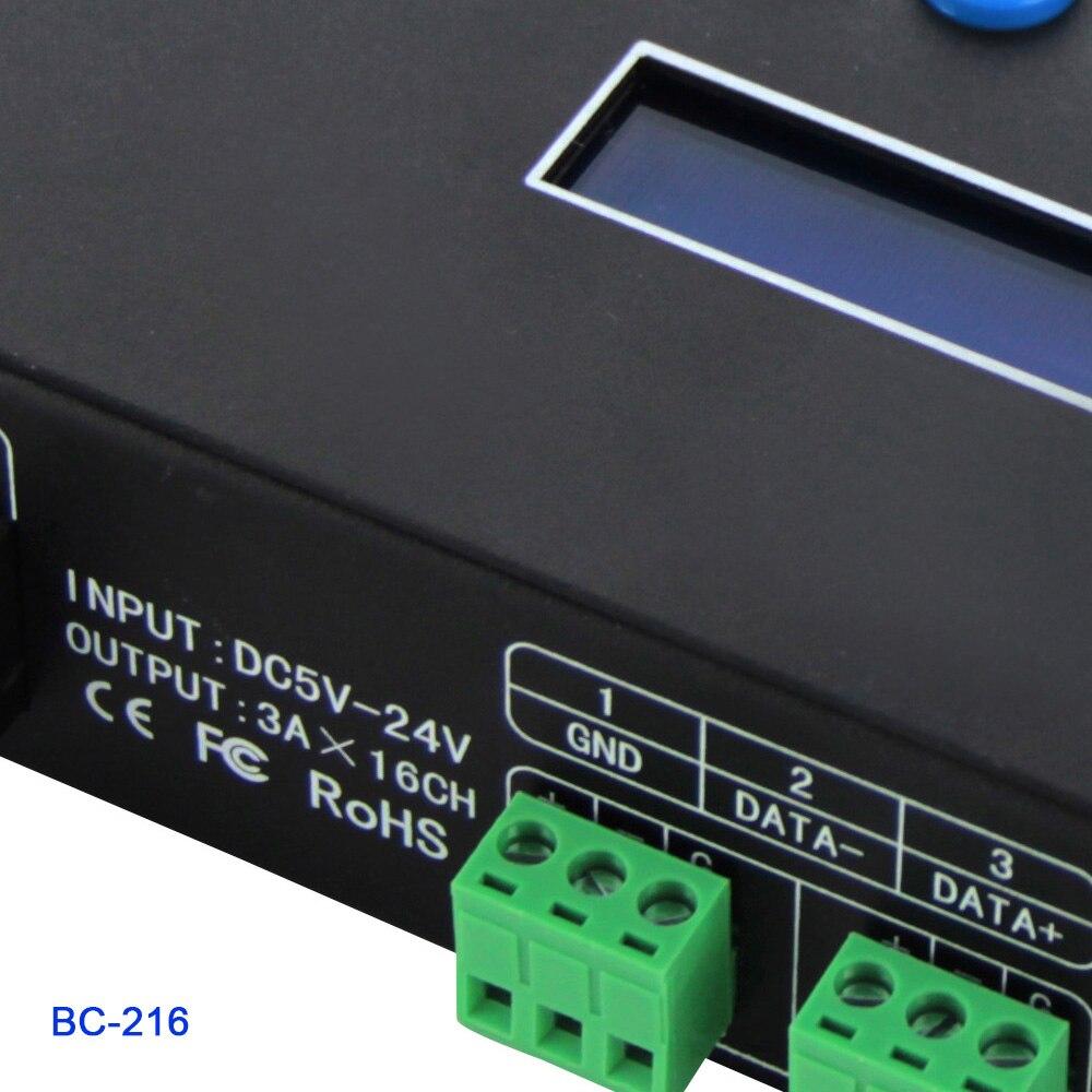 BC 204 4 CH/BC 216 16CH Artnet naar SPI/DMX WS2811 WS2812B SK6812 pixel licht controller; eternet protocol ingang; DC5V 24V - 4