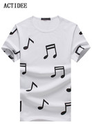 2017 New T Shirt Men Brand Cotton Men S Short Sleeve T Shirt Musical Note