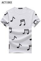 2017 New T Shirt Men Brand Cotton Men S Short Sleeve T Shirt Musical Note
