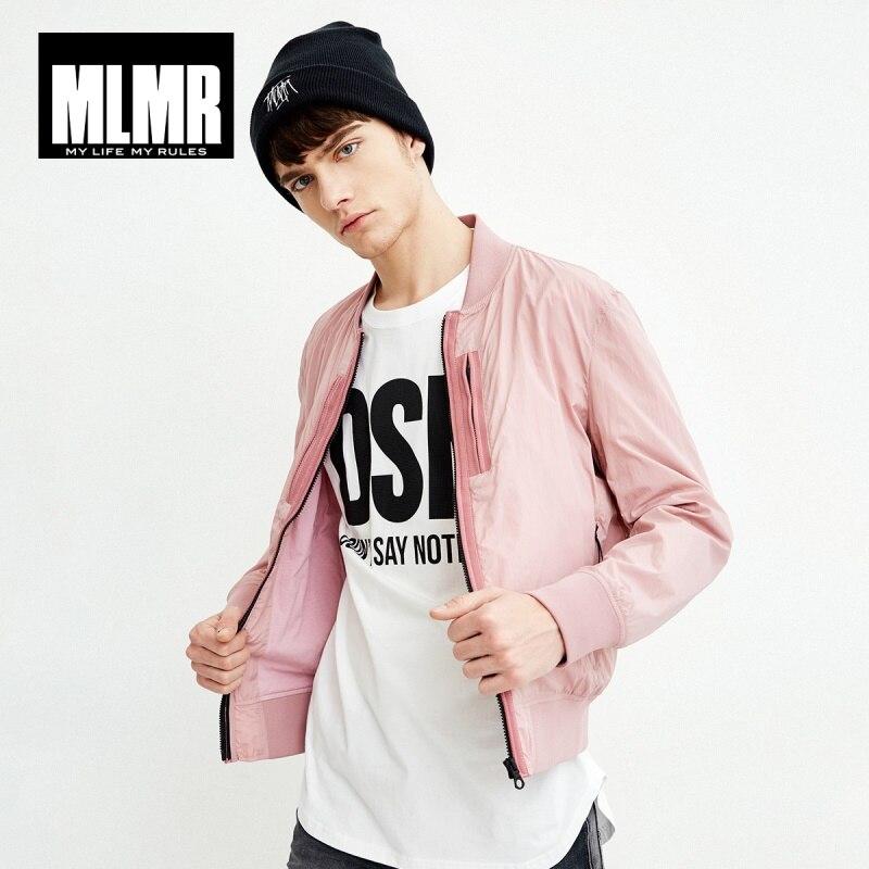 MLMR de hombres Color sólido chaqueta prendas de vestir exteriores 2019 nueva marca de moda ropa M   218121523