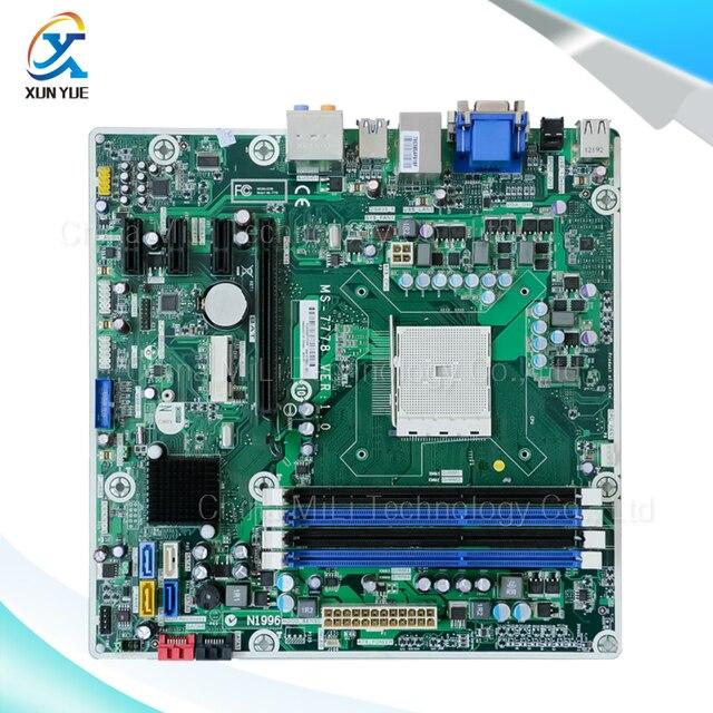 Para hp ms-7778 rev: 1.0 original usado desktop motherboard 675852-001 para amd a75 soquete fm2 ddr3 em venda