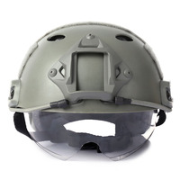 Military Sports Helmets Crashworthy Protective Tactical Helmet For CS Airsoft Paintball Game Safety Helmet With Windproof