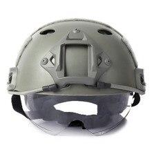 Militär Sport Helme Crashsicheren Schutz Taktische Helm für CS Airsoft Paintball Spiel Schutzhelm mit Winddicht Goggle