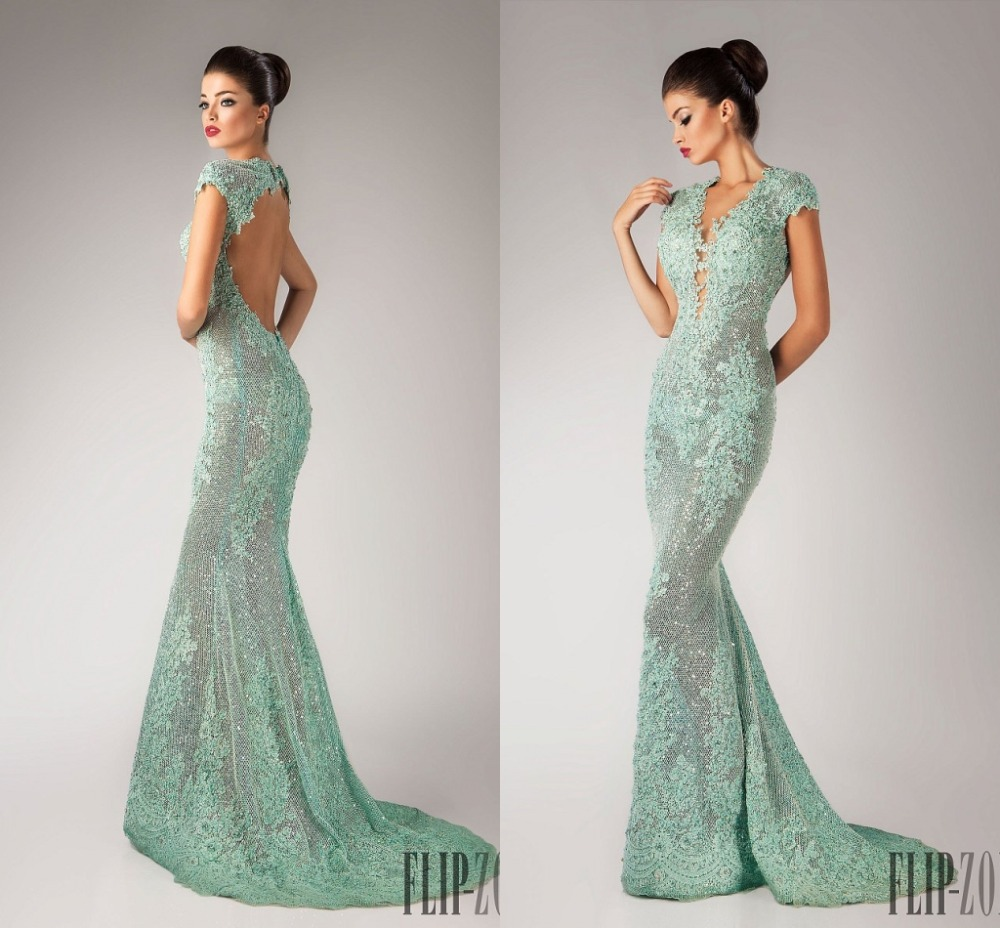 Backless Evening Gowns with Trains_Evening Dresses_dressesss