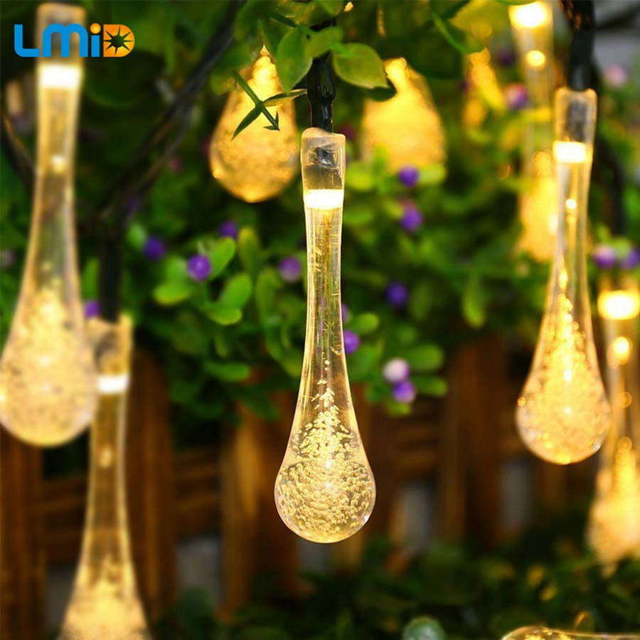 LMID Christmas Outdoor Decoration 4M Droop 0.6M Curtain Icicle String Led Lights 220V/110V New year Garden Xmas Wedding Party