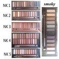 Nk 1 2 3 4 5 naked eyeshadow smoky eye shadwo com kit pincel de Maquiagem 12 Paleta de cores cosméticos cuidados faciais dropshipping Pérola mate