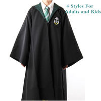 High Quality Harry Potter Cosplay Costume Mantle Gryffindor Slytherin Ravenclaw Hufflepuff Cosplay Robe Halloween Cosplay Cloak