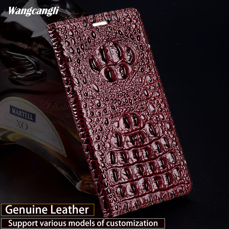 Wangcangli Crocodile Back Texture Business Flip Phone Case for IPhone 7 Genuine Leather Protective Case Hand made Phone CaseWangcangli Crocodile Back Texture Business Flip Phone Case for IPhone 7 Genuine Leather Protective Case Hand made Phone Case