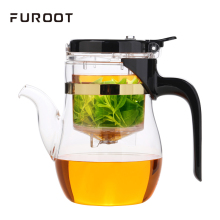 Elegant Glass Teapot With Tea Strainer Milk Oolong Tea KungFu Teaset Press AUTO-OPEN Art Can Unpick And Wash Blooming Flower Tea