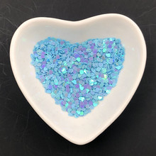 3mm 10g  heart shape sequins PVC Slice sequins DIY manual material of Nail Art garment accessories 5meters 17colors connecting strip with diy sequins handicraft pearl sequins garment connecting strip with diy sequins