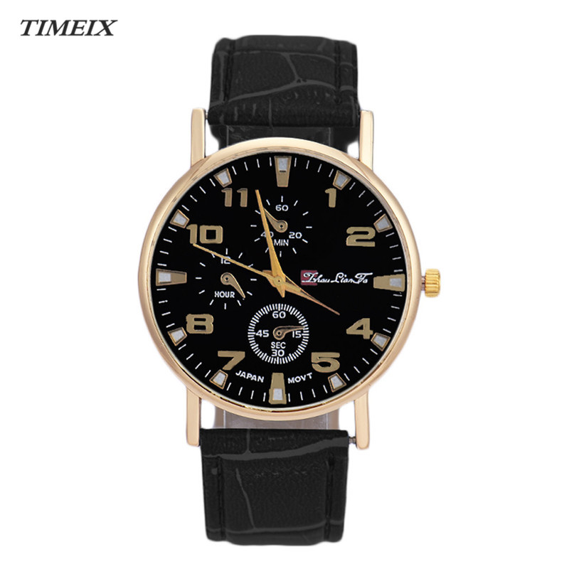 TIMEIX Fashion Quartz Watches Leather Band Analog Quartz ...