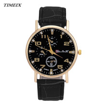 TIMEIX Fashion Quartz Watches Leather Band Analog Quartz Business Wrist Watch Men Women High Quality Free Shipping,Nov 10