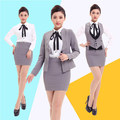 Free Shipping Formal Work Clothing Women Business Skirt Suit Office Ladies Work Wear Female Suits Blazer with Skirts Plus size