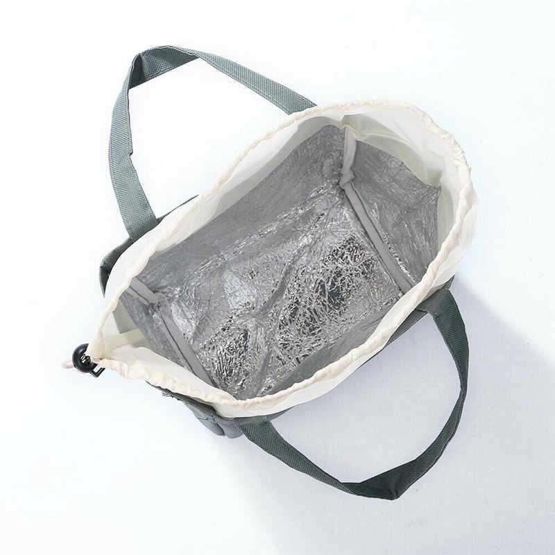 Nova Lancheira Oxford Saco Térmico de Alumínio Com Isolamento Térmico Lunch Box Keep Warm Moda de Alta Qualidade Para O Piquenique