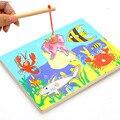 Магнитная Рыбалка Головоломки 3d Деревянные Игрушки Для Малышей Детские Дети Образования Игрушка Рыбы Деревянные Головоломки Игрушки Подарок