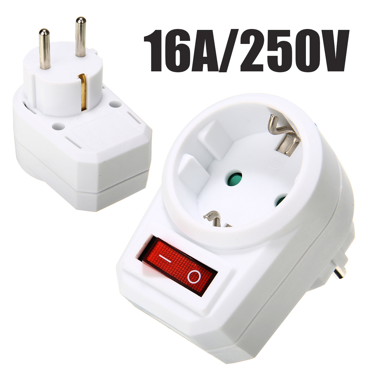 EU Conversion Socket 16A/250V Switchable Socket With Switch Socket Plug Power Portable Travel Converter Adapter