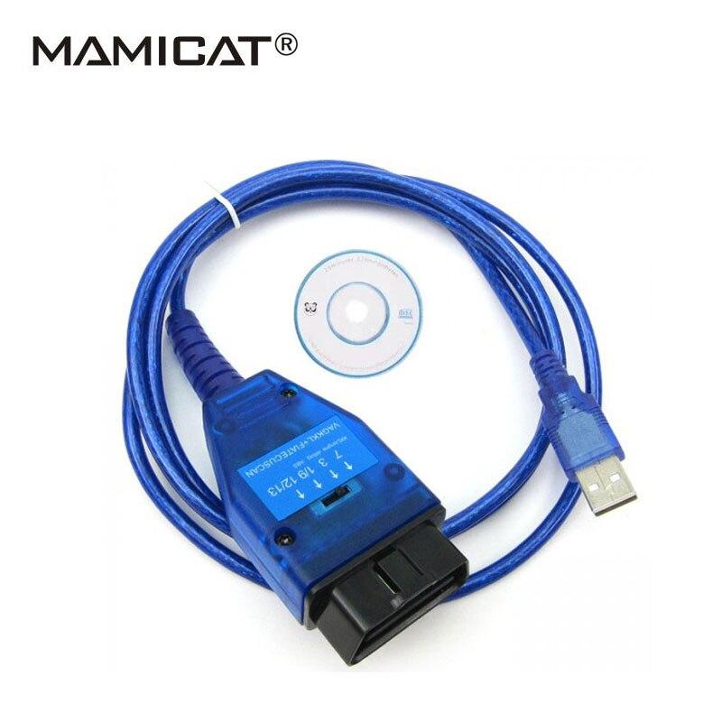 VAG 409 KKL USB Câble OBD OBD2 Outil De Diagnostic Pour Fiat ECU balayer Lire Clair Moteur ABS AirBag ESP Automatique Des Défauts De Voiture OBDII Connecter
