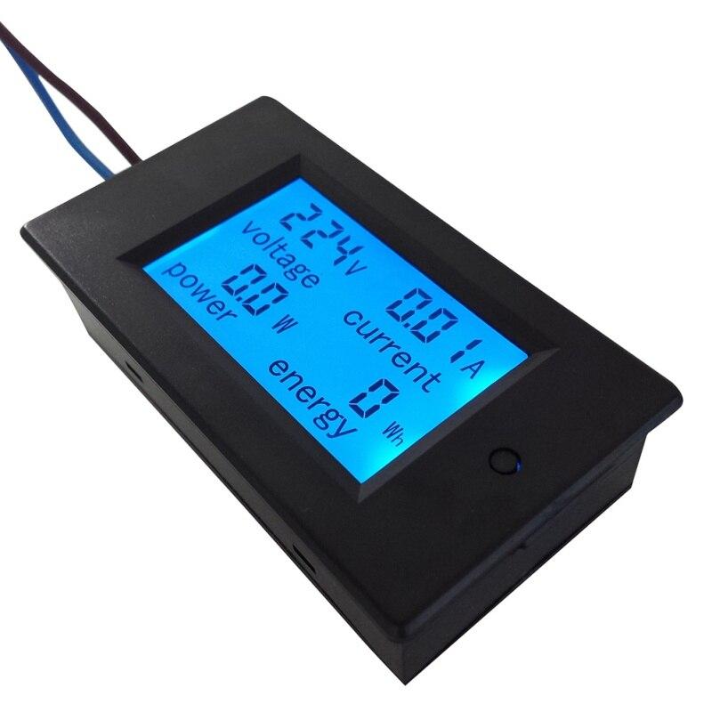 2018 New Car Home Working 1PC AC 80-260V LCD Digital 20A Volt Watt Power Meter Ammeter Voltmeter