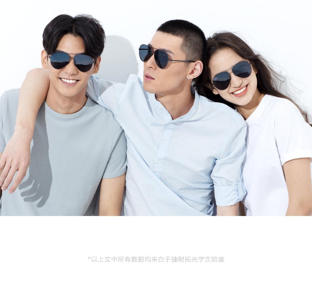 b61234e5560b5 Xiaomi Mijia Steinhardt Turok TS Marca Nylon Polarizada Sol Óculos de Lentes  de Espelho Inoxidável UV400