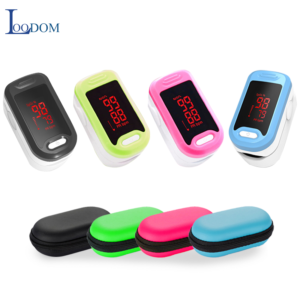 Loodom Finger Pulse Oximeter Oxygen Monitor LED Pulse Oximeters  Fingertip Oximetro De Pulso De Dedo  Heart Rate Monitor