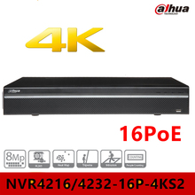 4k NVR Dahua DHI-NVR4216-16P-4KS2 16ports poe support 8mp ip camera cctv video surveillance security system DVR Camcorder