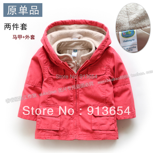 Free shipping new 2013 Spring autumn baby clothing kids cardigans twinset baby outerwear vest suit children hoodies baby coat